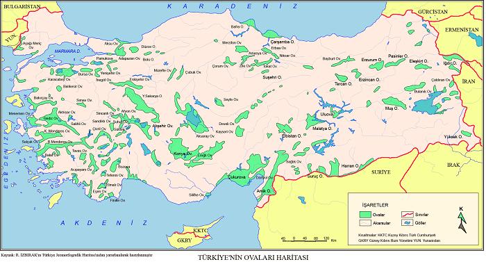 Oluşumlarına Göre Türkiye'nin Ovaları Nelerdir?