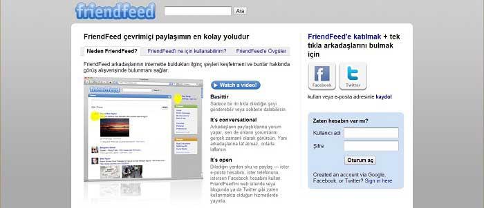 FriendFeed Nasıl Kullanılır?