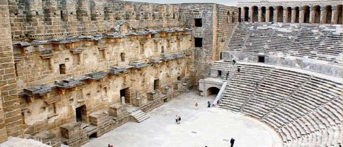 Aspendos Antik Kenti'nin Mimarisi