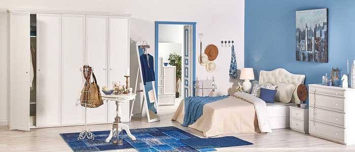 Coastal Stili Yatak Odası