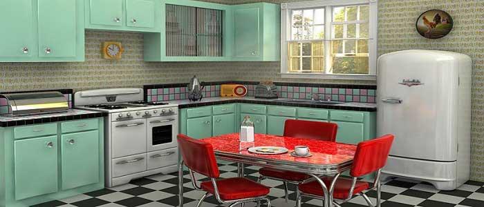 Retro Tarzı Mutfak