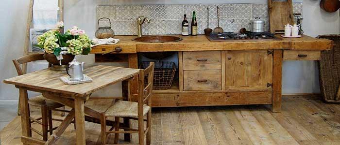 Rustik Tarzı Mutfak