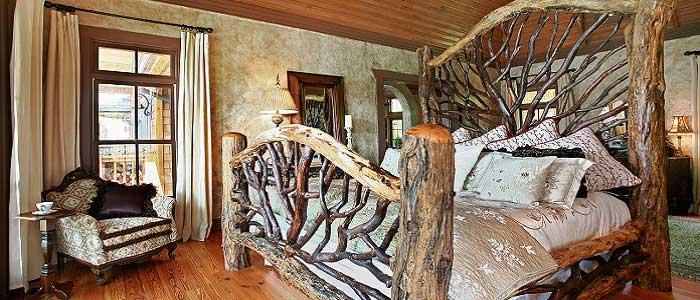 Rustik Tarzı Yatak Odası